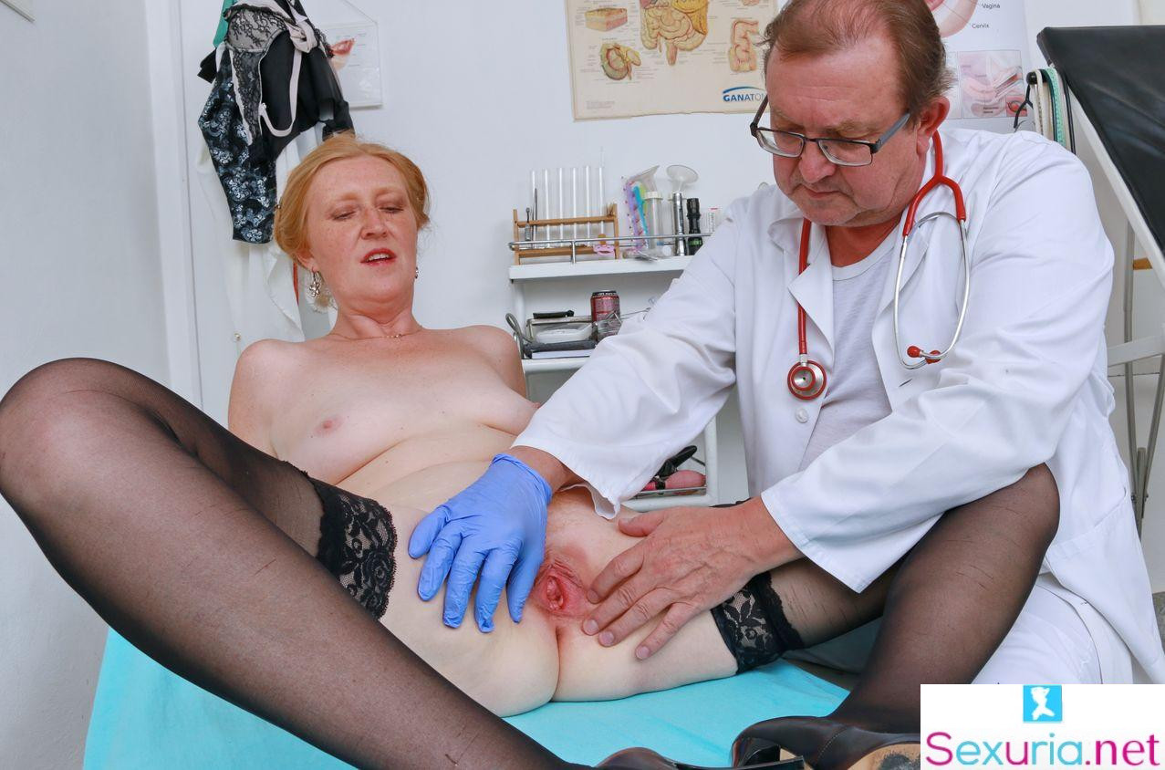Mature Gyno Exam - Angelina